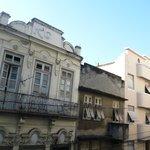 Vista do quarto, rua Riachuelo.
