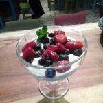 Frutillas con crema veganas