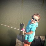 Fishing off the pier at bethpage