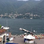 The view from our room over Lake Como