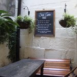 Open air common seating off pub