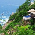 View of ocean front villa