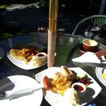 another breakfast at walnut cottage-banana pancakes