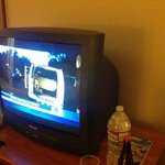 Old style CRT TV in room