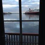 Room 107, with Hurtigruta behind