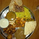 thali in the restaurant near the parking