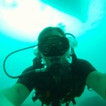 Diving 18 metres