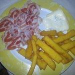polenta fritta con pancetta e gorgonzola