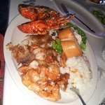 shrimp, fish, and lobster