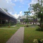 The garden of the Hotel under the rain. Raining season. Beautiful, isn't it?