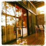 Drink in the valley from this verandah