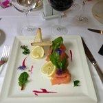 Assiette de saumon du midi
