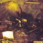 鉱山内の採掘風景展示