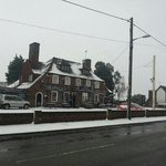 The Plough Inn in the snow