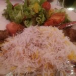 Koobideh kebab, steam boiled rice, safron, excellent