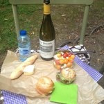 Picnic lunch from Francart (minus the wine)
