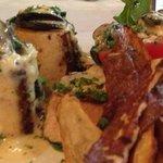 Bone Marrow & Snails with Sweet Potato Fries.