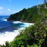 The Atlantic from the Carib village Dominica.