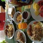 Our scrumptious breakfast