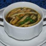 Pilzsuppe mit Einlage