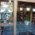 Vista da entrada e da área das refeições