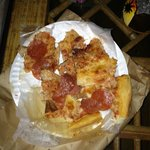 The cold cut up pizza