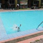 heated pool kids loved it