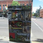Colourful Mailboxes designed by local artist