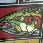 Up close look at art work