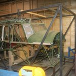 Restoration area: Avro Anson being restored