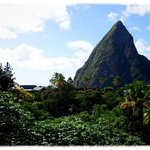 View of the Petit Piton from our room