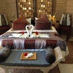 Bedroom at villa lotus