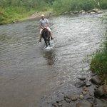 Horse Back Riding through the River