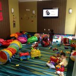 Wonderful playroom inside the hotel