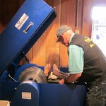 Preparing to cut geode