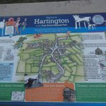Hartington map created by children of the village