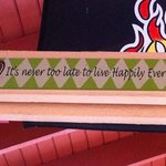 One of the many great signs in the Tiki Bar!
