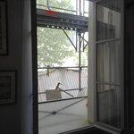 scaffolding window # 2 in dining room