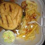 Super Bowl burger