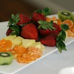 fresh fruit platter as part of breakfast for a day retreat