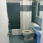 Bathroom in larger room