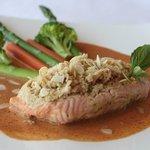 Curry Salmon Stuffed Seafood
