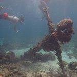 An old anchor