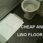 cheap lino bathroom floor