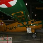 Display on Search and Rescue in Saskatchewan featuring a Noorduyn Norseman bush plane