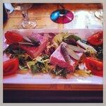 Starter: rabbit & green salad