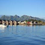 Blick vom Hotel aus auf den Fjord