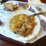 Room service/denver omlete $6.95