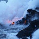 Lava into the sea