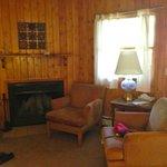 Living room in smaller cabin (1BDR)